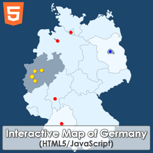 Interactive Map of Germany HTML5 JavaScript