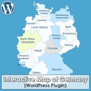 Interactive Map of Germany WordPress Plugin