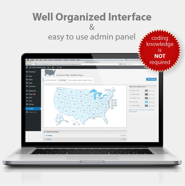 Interactive US Map - WordPress Plugin by Art101 | CodeCanyon