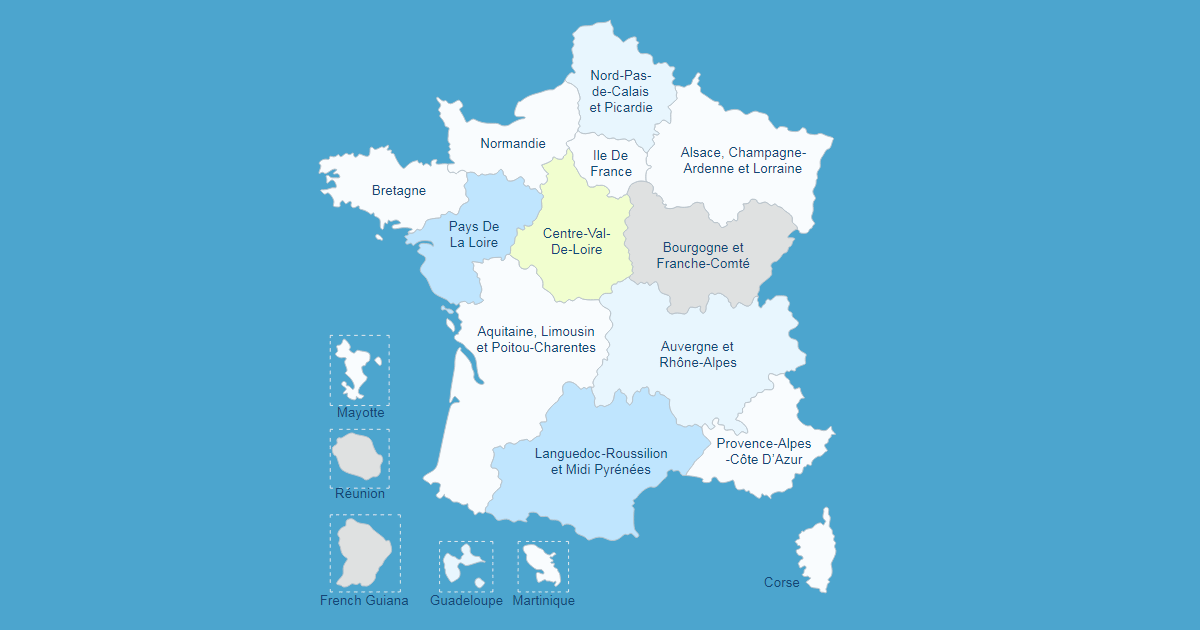 Interactive Map of France WordPress Plugin