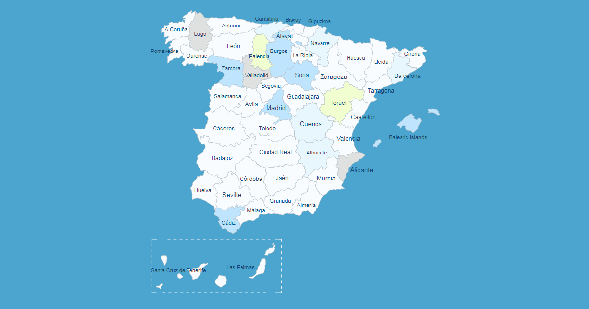 Interactive Map of Spain WordPress Plugin