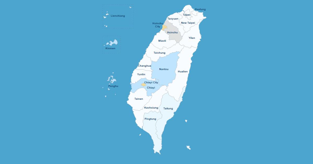 Interactive Map of Taiwan WordPress Plugin