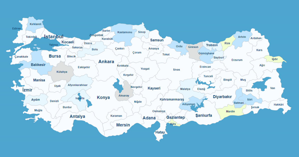 Interactive Map of Turkey WordPress Plugin