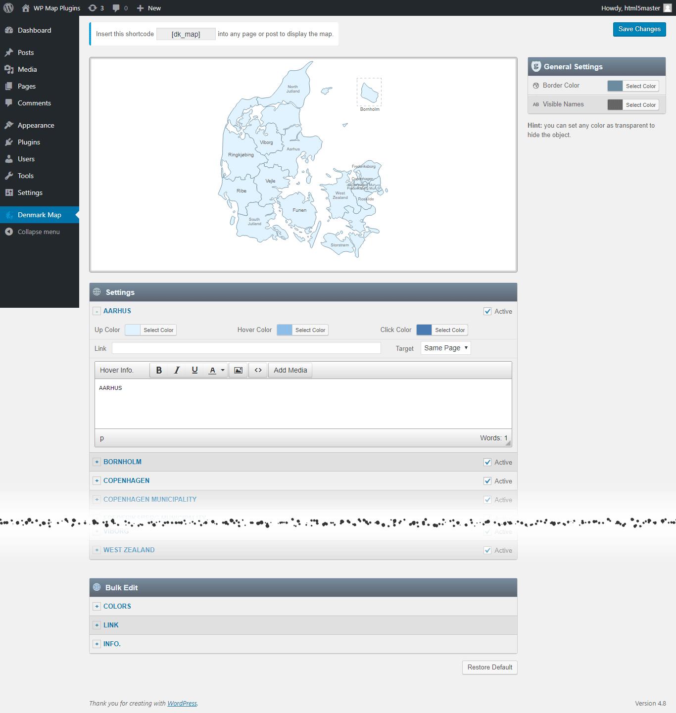 interactive map of denmark wordpress plugin