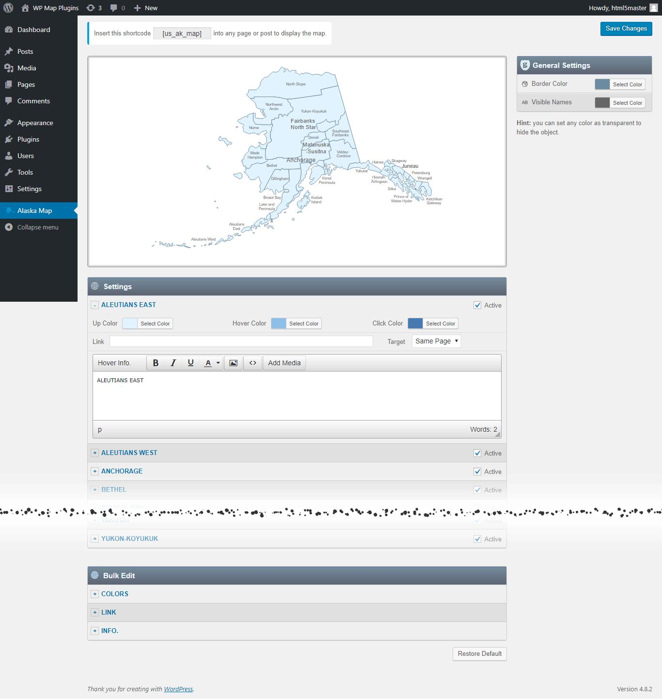Alaska haines county - Interactive Map Of Alaska Wordpress Plugin