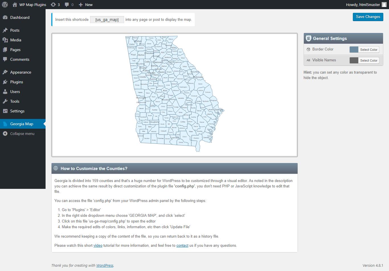 Interactive Map Of Georgia.Interactive Map Of Georgia Wordpress Plugin