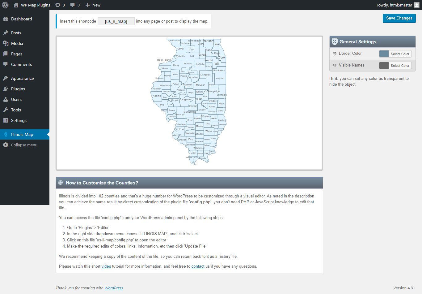 Interactive Map Of Illinois WordPress Plugin - Illinois on the us map