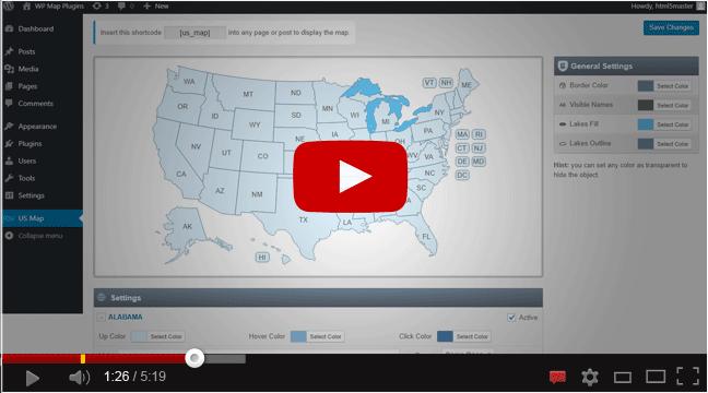 Interactive US Map WordPress Plugin - Interactive Us Map Plugin Wordpress